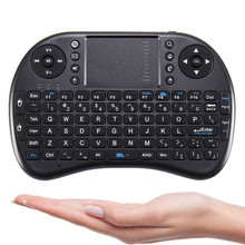 2.4GHz Remote Control Touchpad QWERTY Fly Air Mouse Mini Wireless Keyboard Backlit For Android TV Box for Tablet PC