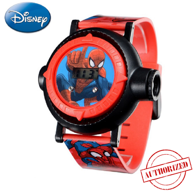 Genuine MARVEL Spider Man Projection LED Digital Watches Children Cool Cartoon W
