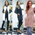 colete feminino vest 2016 New Fashion Womens Autumn and Winter Warm Fur Sleeve Long Cardigan Vest Coats chalecos mujer