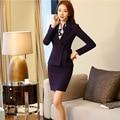 Formal Ladies Escritório Arco Saia Terno 2016 Projetos Uniformes Escritório Saias Ternos Blazer Com Saia Conjuntos Ternos Das Mulheres de Negócios Elegante