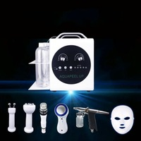 Small Bubble Pro Oxygen Injection Cosmetology Scrubber Led Mask Beauty Set Facial Skin Care Massager Facial Scrubber for Salon