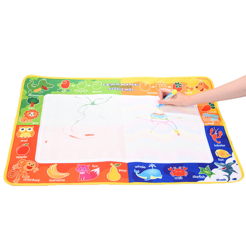 Minocool 2 Размеры Магия воды Doodle Коврики с 1 Волшебное перо/Вода Чертёжные доски/вода Коврики/Aquadoodle Коврики для Игрушки для маленьких детей