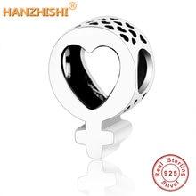 Лето 925 стерлингового серебра женский символ Бусины Подходят Pandora шарм браслеты сделай сам для женщин подарок Berloque