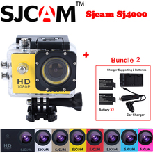 100% Unique Sjcam SJ4000 30M Waterproof Mini Out of doors Sports activities Motion Digital camera Sj 4000 Cam DV+Further 2 Battery+Twin Wall+Automotive Charger