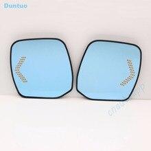 Blu Specchio Specchi di Vista Laterale Auto Glare Specchio Proof LED Indicatori Spia Per Nissan PATROL/ELGRAND E52/ELGRAND RIDER/Ricerca