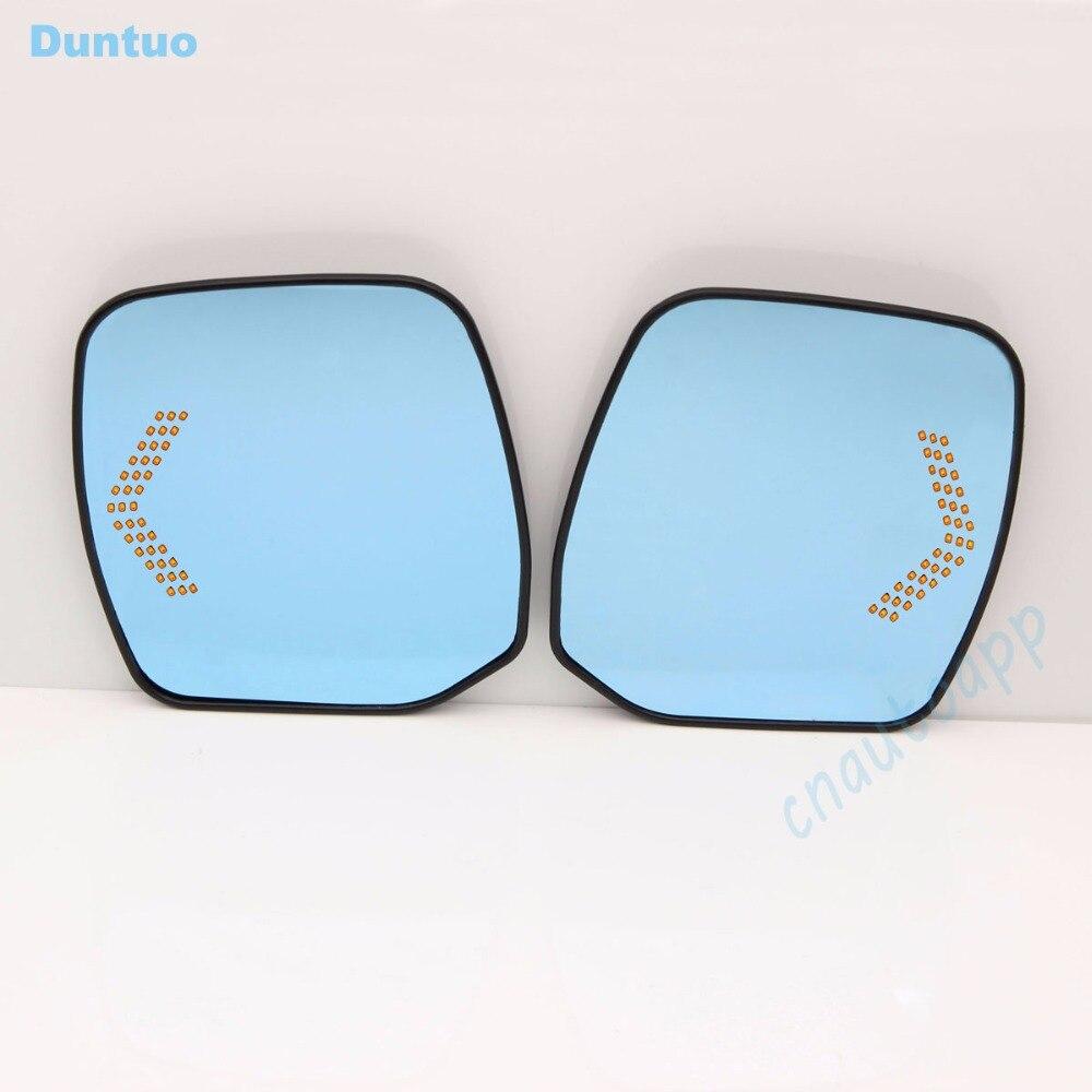 Rétroviseur bleu pour voiture rétroviseur antiéblouissant LED clignotant pour Nissan patrouille/ELGRAND E52/ELGRAND RIDER/Quest