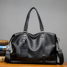 Men Travel Bag for Luggage Leather Duffle Suitcase Carry on Bags Big Weekend waterproof