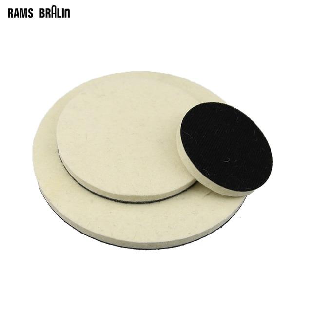 "1 piece 2""   7"" Optional Flocking Wool Felt Polishing Wheel Polishing Wax Ball for Metal Plastic Glass Wood Mirror Finish"