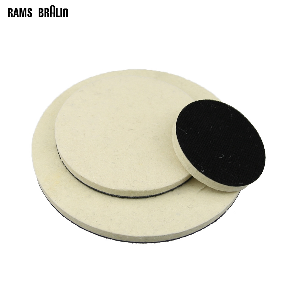 "1 Piece 3"" 5"" 7"" Optional Flocking Wool Felt Polishing Wheel Polishing Wax Ball For Metal Plastic Glass Wood Mirror Finish"