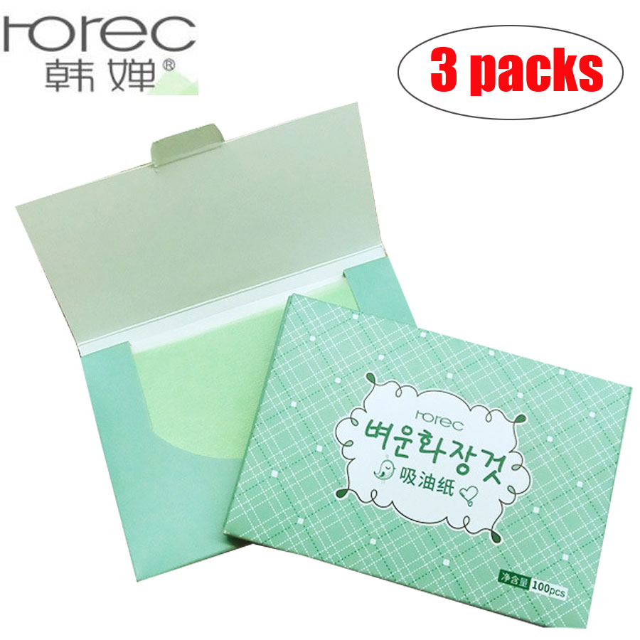 3 Pack 300pcs Facial Absorbent Paper Oil Absorbing Sheet Oily Face Blotting Cleanser Lavender Rose Green Tea Bamboo Charcoal
