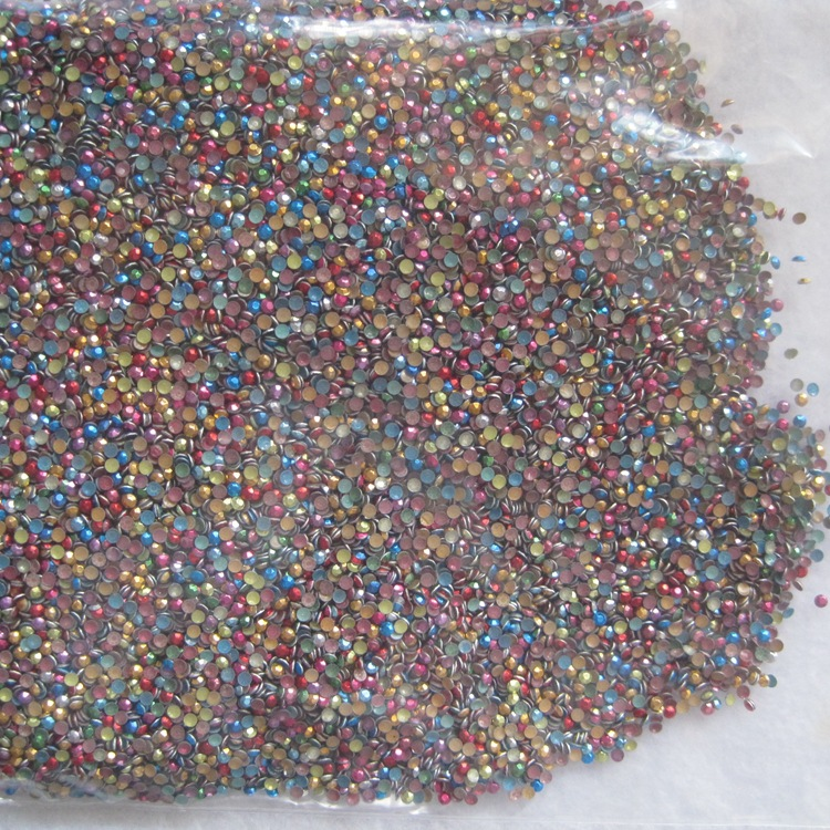 100pc / pag nail rivets jewelry mini rivets 2mm 3mm mixed color octagonal film