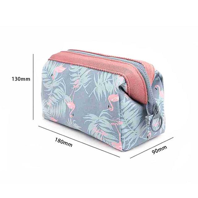 Cute Zippered Cosmetic Case