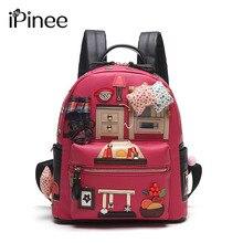 Ipinee дизайнер мультфильм Средняя школа Сумки женские Высокое качество искусственная кожа ноутбук Рюкзаки для девочек-подростков