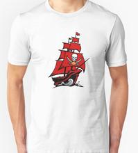 Tampa Bay Buccaneers T-shirts Men Swag Funny Cotton Short Sleeve O-neck Tshirts 2016 New Fashion Summer Style Brand T shirts