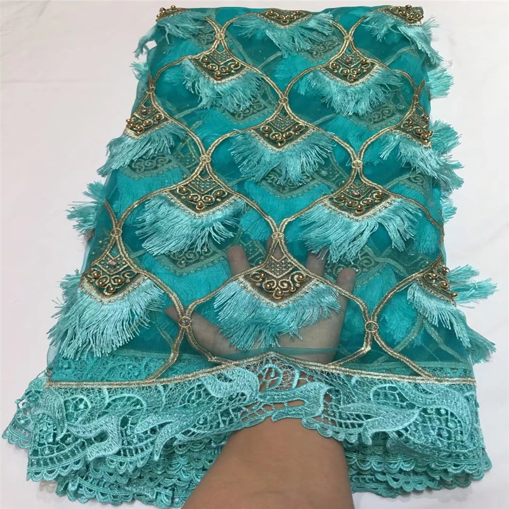 LOVE THANKS LACE Net Lace 2018 Aqua Nigerian French Embroidery Tulle Lace Fabric  X44-1LOVE THANKS LACE Net Lace 2018 Aqua Nigerian French Embroidery Tulle Lace Fabric  X44-1