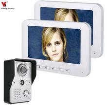 YobangSecurity Video Door Intercom 7 Inch Monitor Wired Video Doorbell Door Phone Speakephone Intercom Camera Monitor System