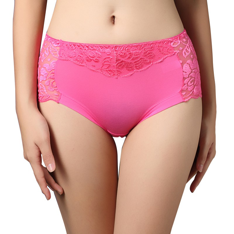 Buy Plus Size Women Seamless Underwear Briefs Panties Full Transparent Lace Seamless Knickers