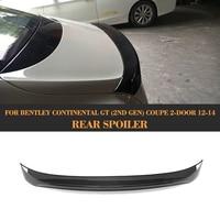Carbon Fiber Car Rear Trunk Spoiler case for Bentley Continental Coupe 2 Door Only 2012 2013 2014 GT V8 Supersports