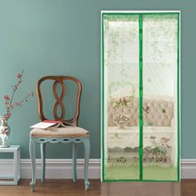 90/100 X210 cm Magnetic Curtains Door Screen Tulle Anti-Mosquit Curtain Hands-free Mosquito Net Curtain For Kitchen Door Screens(China)