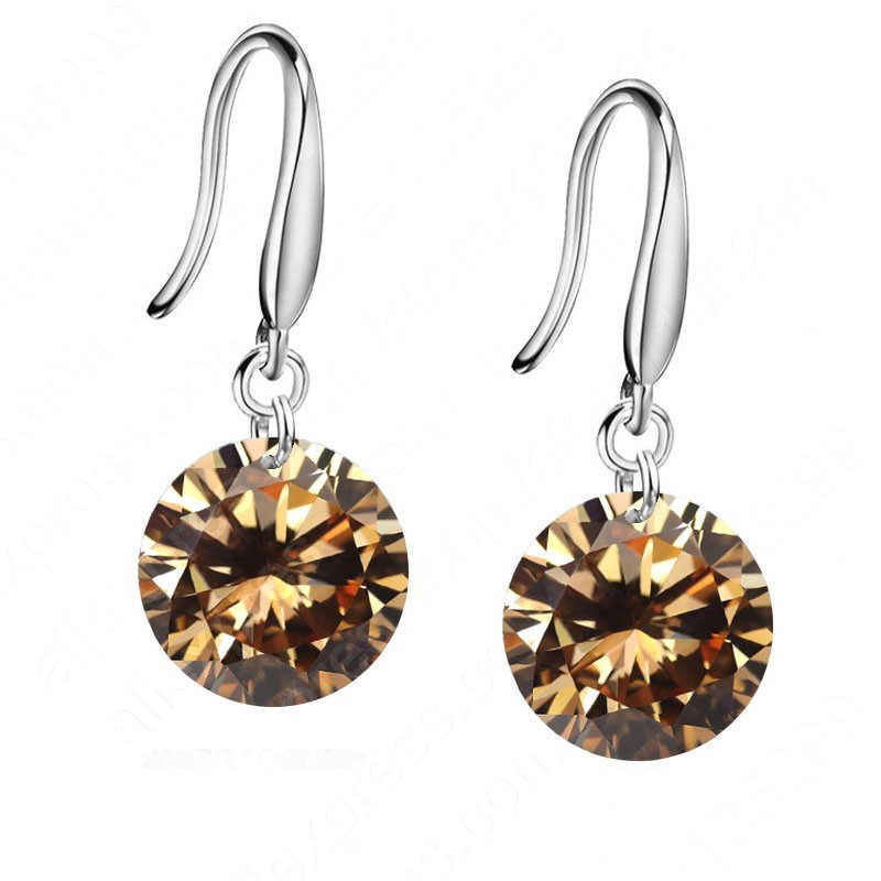Fashiom Shiny Earring For Women Girl Top Quality Sterling  Crystal Jewelry Wedding Party  Wholesale Promotion