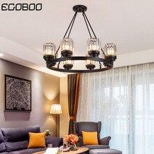 цена на Modern LED crystal chandelier E27 bulb 3/6/8/10 head retro hotel restaurant bedroom living room lighting wrought iron home decor