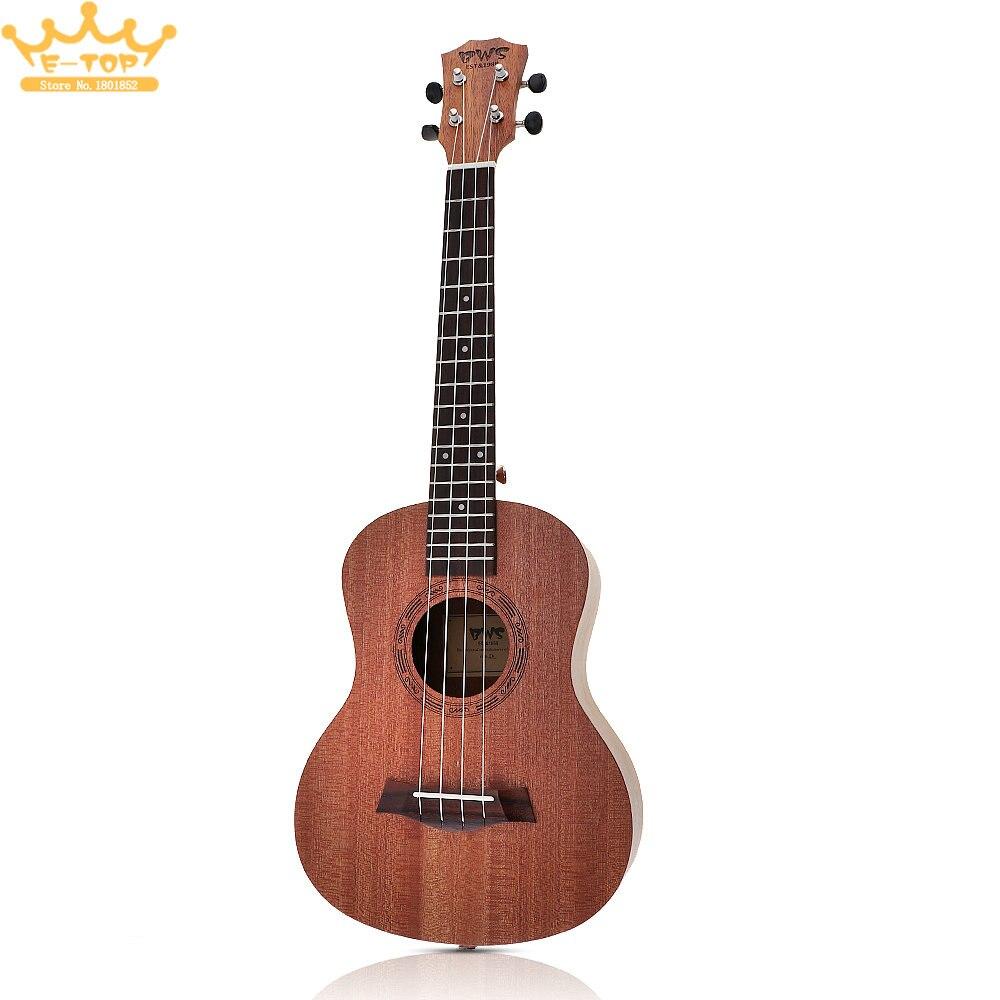 26 Pouce 18 Frettes Acajou Bois Ukulélé Ténor Acoustique Cutaway Guitare Ukulélé Hawaï 4 Cordes Guitarra