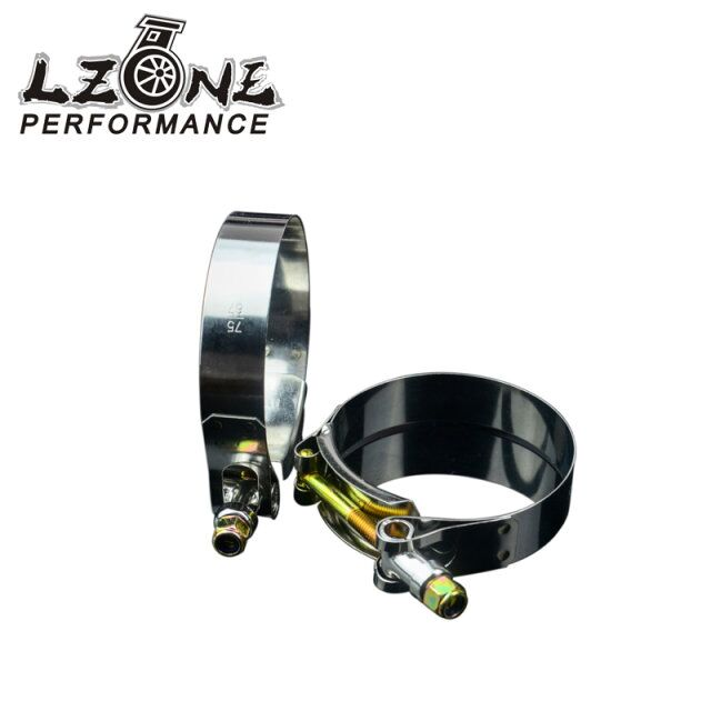 LZONE RACING - (2PCS/LOT) CLAMPS 2.5 (67-75)STAINLESS SILICONE TURBO HOSE COUPLER T BOLT CLAMP KIT HIGH QUALITY SS304 JR5252
