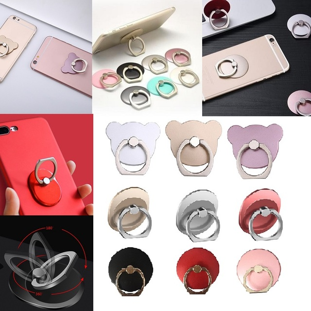 Finger Ring Mobile Phone Smartphone Stand Holder For iPhone X 8 7 6 6S Plus 5S Smart Phone IPAD MP3 Car Mount Stand For Samsung