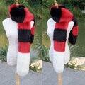 Новый искусственного меха лисы шарф длинный искусственный мех глушитель голодомору шаль шерсти зимой женщины творческий вечер косплей меховой шарф воротник customerized