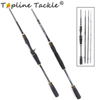 Topline Tackle spinning casting trolling telescopic fishing rod feeder ice abu garcia rings stand surf fishing rods