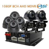 Free Shipping 8CH GPS 3G HD 1080P AHD SD Car DVR MDVR Video Recorder Real Time