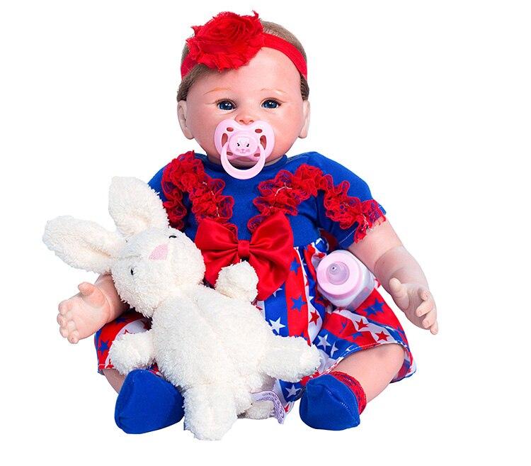 Dollmai 48 см, силиконовые перерожденные куклы Детский приятель подарок для девочек 18 дюймов boneca Reborn для мужчин игрушки для букетов куклы Bebe reborn