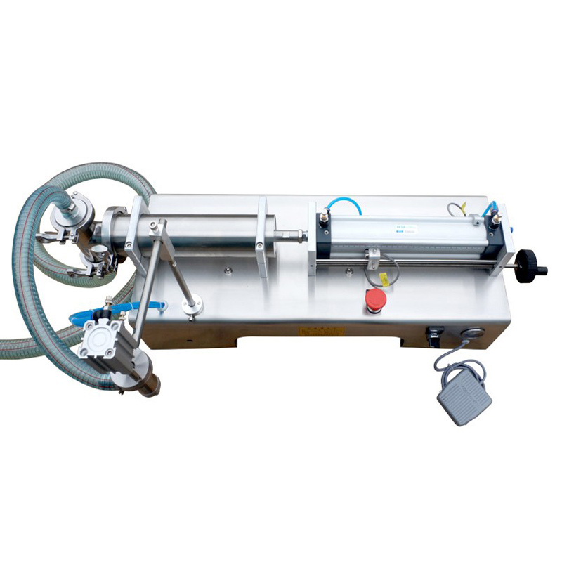 US $290 0 |Filling machine liquid filler pneumatic 0 6MPa 5 1000ml water  bottle filling machine sauce packaging equipment beverage filler-in  Pneumatic