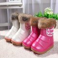 New winter children more han edition children soft bottom female baby girl's real rabbit fur  boots