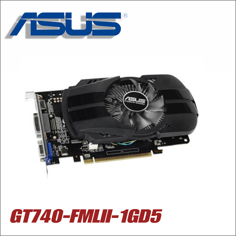 used ASUS Graphics Card Original GT740 1GB 128Bit GDDR5 Video Cards for nVIDIA Geforce GT 740 Hdmi Dvi Used VGA Cards est for a c e r aspire 5920g 5920 5520g 5520 mxm ii ddr2 1gb graphics vga video card replace n v i d i a geforce 9650m gt