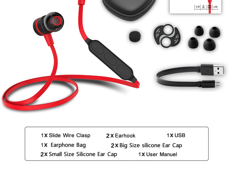 22-1 Magnetic suction swith mini wireless Bluetooth earphone stereo sports bluetooth earbuds music bluetooth headset with microphone