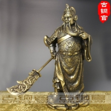 wholesale Antique Bronze Art factory Bronze copper knife buddha decoration bronze factory outlets Pure Brass