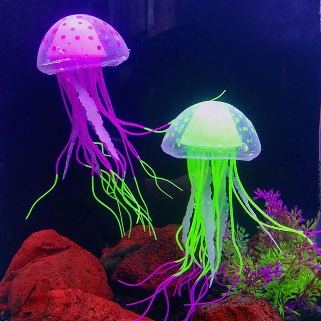Incredibly Detailed Imitation Floating Fluorescent Jellyfish Decorations  4