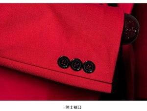 Image 5 - PYJTRL marka erkek rahat kırmızı takım elbise ceket düğün slim fit uzun kollu erkek gömlek Blazer şarkıcılar için sahne kostümleri kostüm Homme
