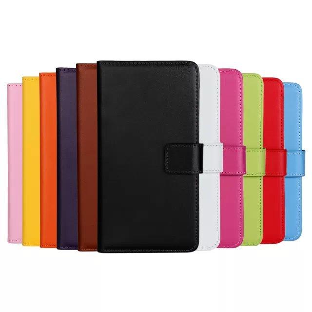 9b665e9bfcf94 Oryginalne Skórzane Etui Portfel Pokrywa Z Zamka Magnetycznego Pełne  Luksusu Odwróć karty Etui na Karty Do Sony Xperia Z1 Compact mini PZ