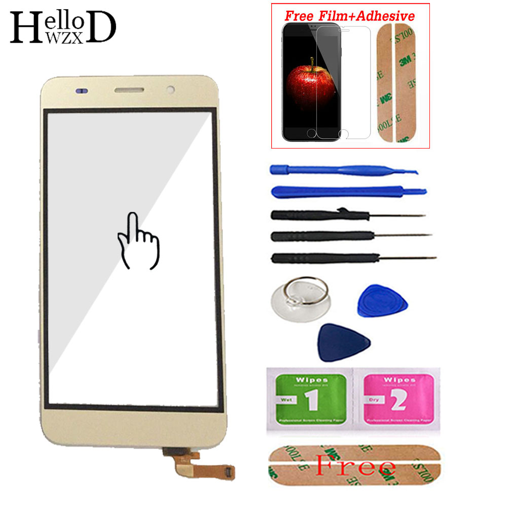 Touch Screen For Huawei Y6 Honor 4A SCL-L01 L21 L04 Digitizer Panel Touch Screen Sensor Front Glass Adhesive + Screen Protector