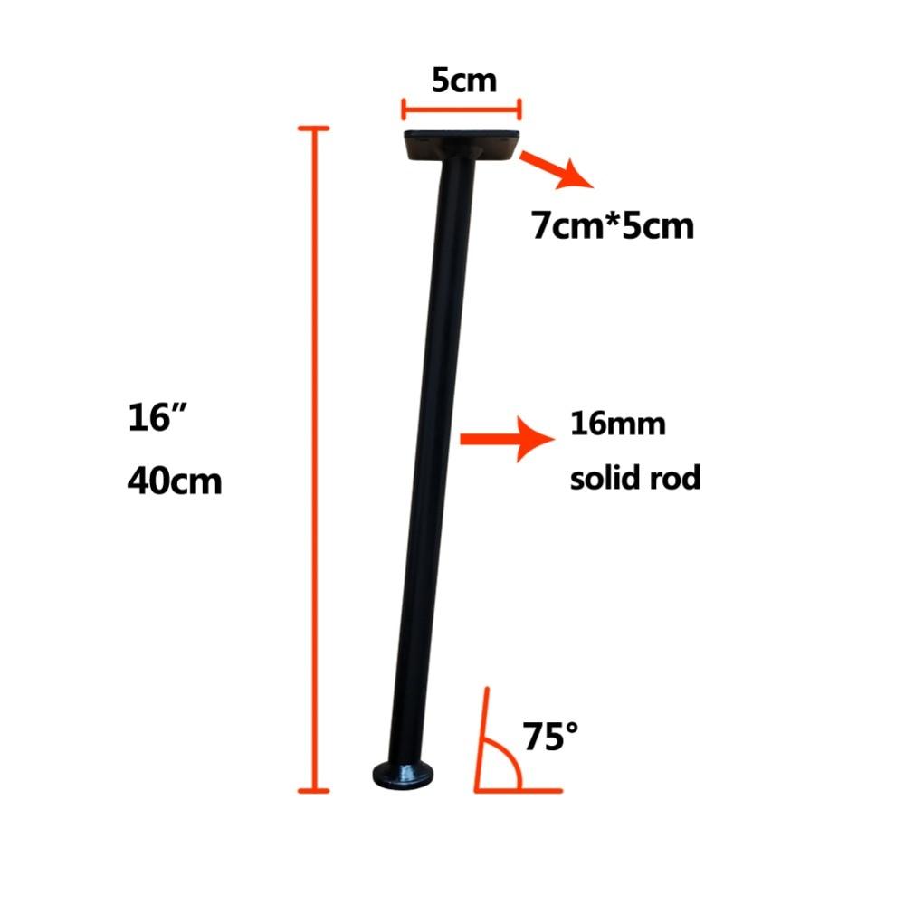 16 Inch Metal Table Leg,matte black,Mid-Century Modern Bench leg,Pack of 4(angled) цена