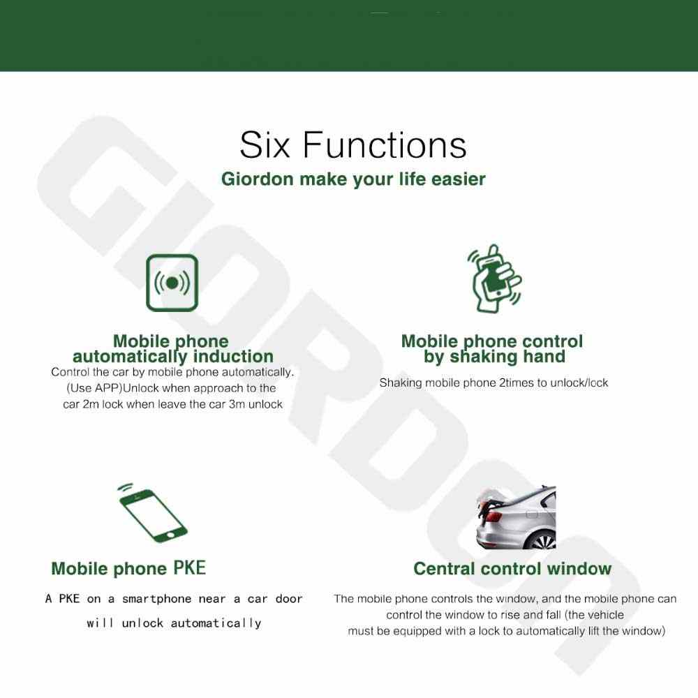 Módulo Smartphone APP Bluetooth Kit Carro Fecho Central Controlo Remoto Keyless Entry Tronco Chave Inteligente Anti Roubo Sistema de Alarme de Carro
