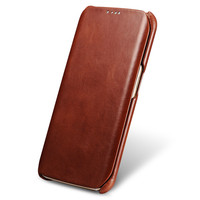 ICarer Original Luxury Genuine Cowhide Leather Case For Samsung Galaxy S6 Edge G9250 Mobile Phone Magnet