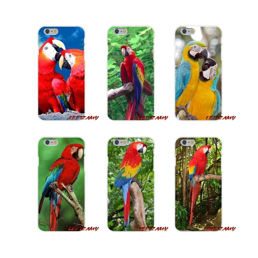 Радуга фиолетовый Попугай печати аксессуары телефон чехлы для Samsung Galaxy A3 A5 A7 J1 J2 J3 J5 J7 2015 2016 2017