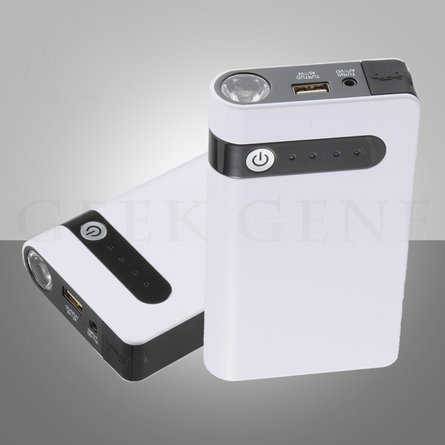 Upgrade Professional 12V Car 12000mAh Jump Starter Portable 400A Peak Car Charger Mini 5V 2A USB Power Bank SOS Lights Free Ship