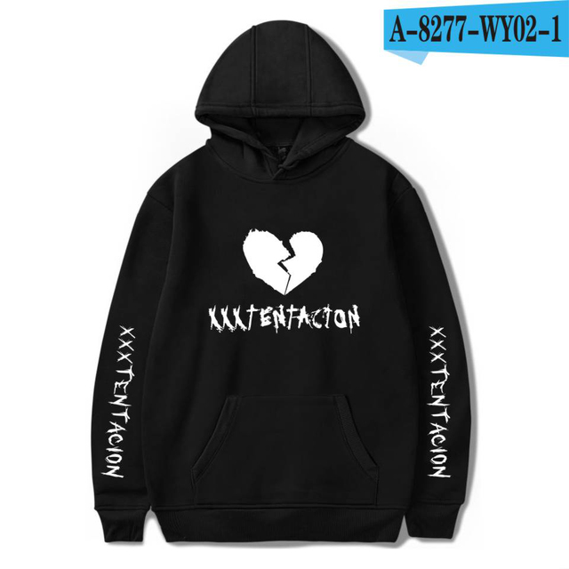Rapper Xxxtentacion Broken-hearted Hoodie HatHoodies and Xxxtentacion Sweatshirts Oversized To Women/Men