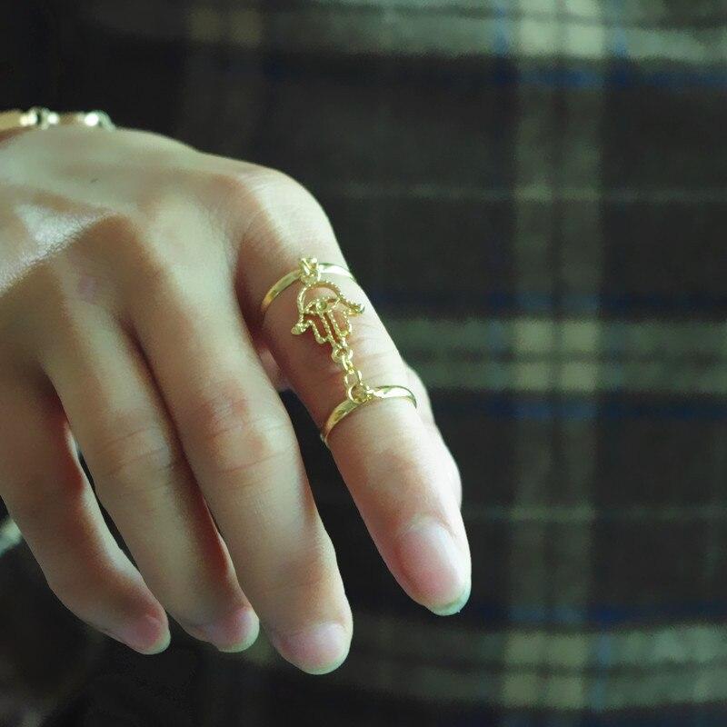2017 SUPIN Fashion Personality Fatima Hand Tassel Chain Open Gold