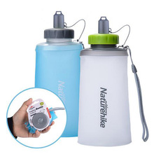 500ml Foldable Water font b Bottle b font Silicone Large Capacity Camping Outdoor font b Cycling