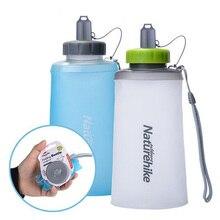 500 ml Botella de Agua Plegable de Silicona de Gran Capacidad de Camping Al Aire Libre Ciclismo Portable